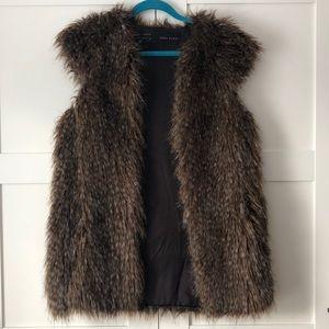 Zara - faux fur vest